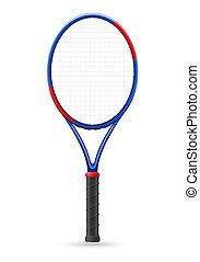 tennis racket vector illustration isolated on white background