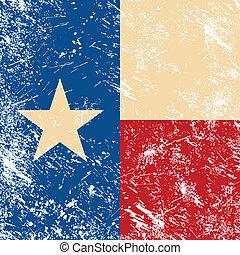 Texas vintage flag - grunge old style