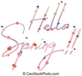 Text of hello spring