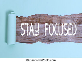 Text sign showing Stay Focused. Conceptual photo Be attentive Concentrate Prioritize the task Avoid distractions.