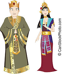 Thai King and Queen