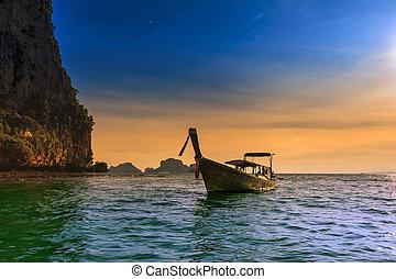 Thailand tropical nature beautiful landscape. Sea cost touristic background