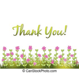 Thank you with flowers greetings card