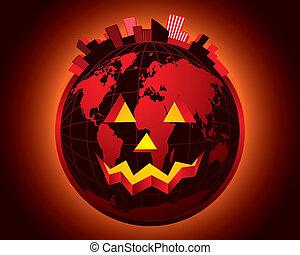 Vector halloween world