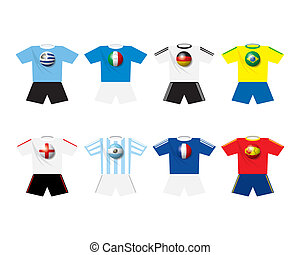 World champion soccer's teams t-shi