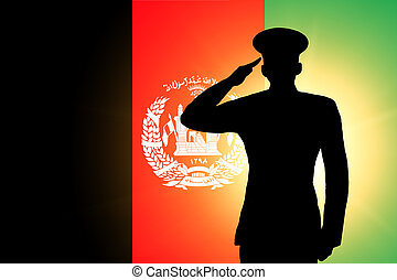 The Afghan flag