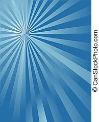 blue sun ray background