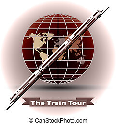 The concept of a train tour around the world