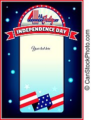 the Fourth of July card