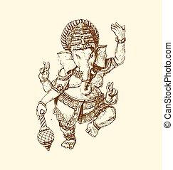 he Indian god of Ganesha.