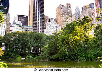 The Pond, Central Park, New York