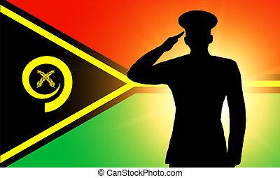 The Vanuatu flag