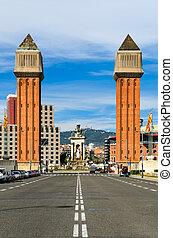 The Venetian Towers in Barcelona