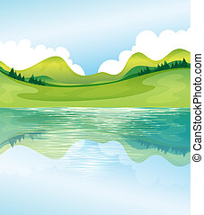 Illustration of the water and land resources