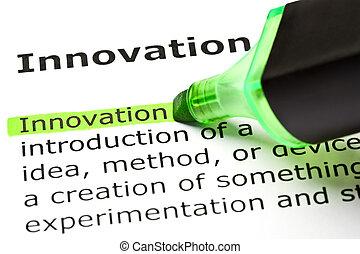 'Innovation' highlighted in green