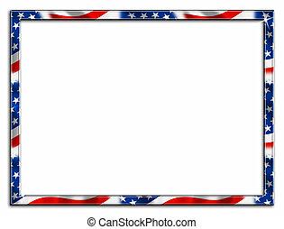 Thin Patriotic Border Frame