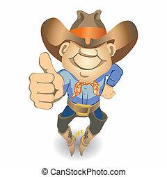 Thumbs Up Cowboy (vector)
