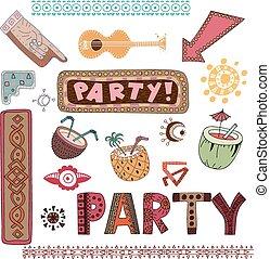 Tiki island party set