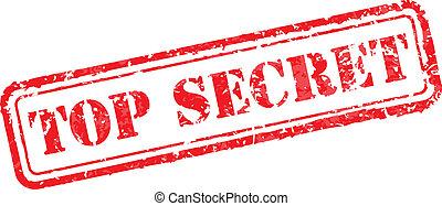 Top secret rubber stamp vector illustration. Contains original brushes