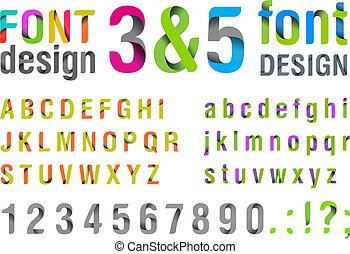 New Ribbon Design Font. Usefull for Logo & title. Vector EPS 10