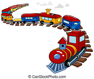 Background Design Featuring a Toy Train