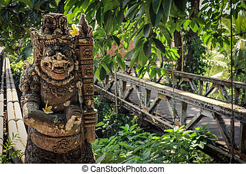 Traditional Balinese guardian statue