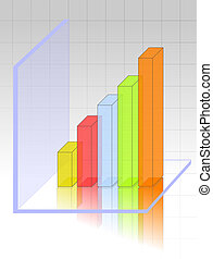 Transparent and colourful 3d graph