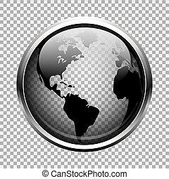 Transparent globe. EPS 10