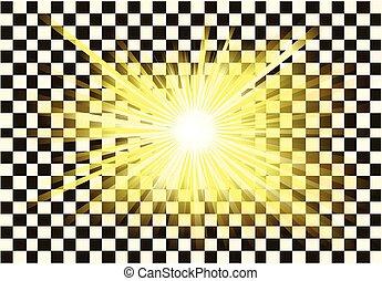 Transparent light or sun rays vector