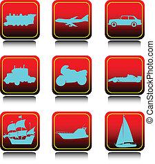 transport set icons