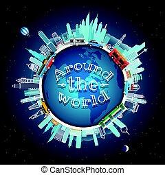 Travel around the world. Vector illustration