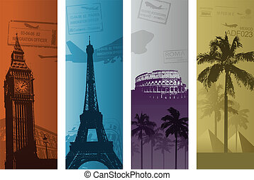 vertical travel banners