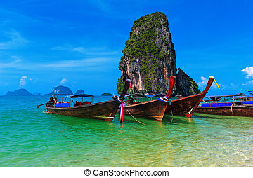 Travel nature landscape. Thailand sea cost tropical background