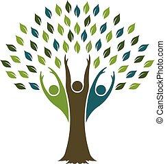 Tree of Liberty logo. Vector graphic design