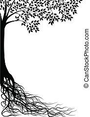 Vector illustration of tree silhouette