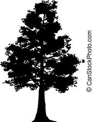 Tree made in vector