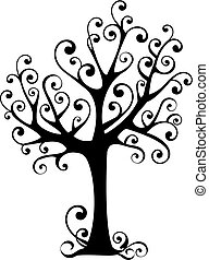 tree with swirls