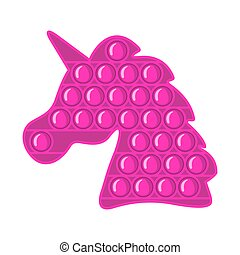 Trendy antistress sensory toy Pop it fidget in flat style isolated on white background.