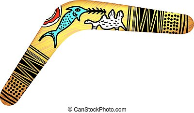 Tribal Boomerang isolated on white background. Tribal style. Vector illustration.