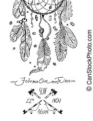 Tribal invitation design