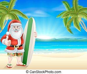 Tropical beach Santa