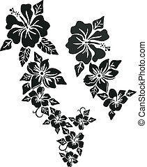 Tropical flower clothing