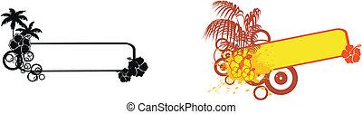 tropical flower copyspace set7
