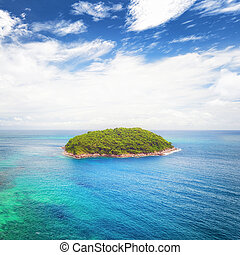 Tropical island travel nature landscape