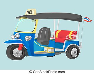 TUK-TUK is the name of Thailand Taxi one of the best way to explore urban city