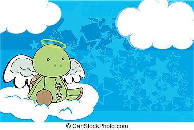 turtle angel cartoon copyspace 3