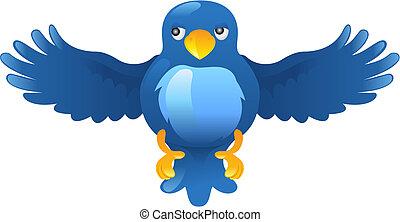 A tweet ing twitter ing blue bird icon or symbol