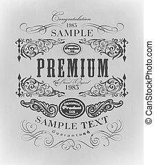 typography, calligraphic design elements, page decoration