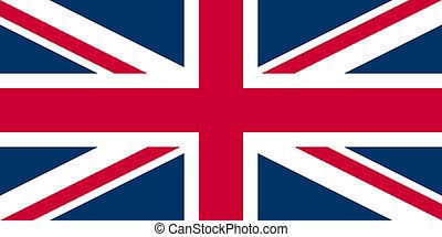 UK Flag Union Jack - Proper normalised ratio (2:1) and colours (RGB 204,0,51 - 255,255,255 - 0,51,102)