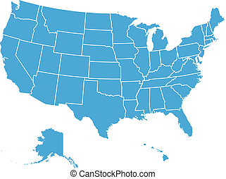 United States of America Vector Map. Cartography collection.